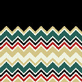 Chevron Beige Forest Green Red Black Zigzag Pattern by Beverly Claire Kaiya