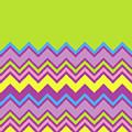 Chevron Bright Green Yellow Blue Purple Zigzag Pattern by Beverly Claire Kaiya