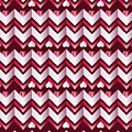 Chevron Hearts Metallic Ruby Red Pink Zigzag by Beverly Claire Kaiya