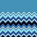 Chevron Summer Cobalt Sapphire Blue Black Zigzag Pattern by Beverly Claire Kaiya