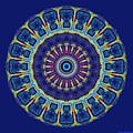 Chevrons II Mandala by Joy McKenzie