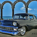Chevy Belair In Mexico by Randy Harris