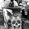 Chevy Decor Day Of Dead Bw by Chuck Kuhn