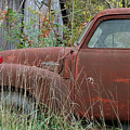 Chevy Truck Rusting Along Road by George Ferrell