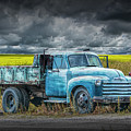 Chevy Truck Stranded By The Side Of The Road by Randall Nyhof