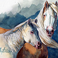 Cheyenne And Tripod by Linda L Martin