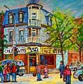 Chez Vito Rue Fairmount Landmark Architecture Beautiful Summer Scene Montreal 375 Carole Spandau Art by Carole Spandau
