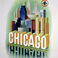 Chicago American Airlines 1950 by Daniel Hagerman
