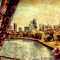 Chicago Approaching The City In June Textured by Thomas Woolworth