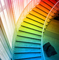 Chicago Art Institute Staircase Pa Prismatic Vertical 02 by Thomas Woolworth