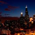 Chicago At Night by Don Mennig