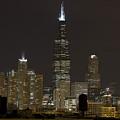 Chicago At Night I by Andrei Shliakhau