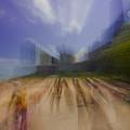 Chicago Beach Zoom Blur by Sven Brogren