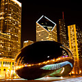 Chicago Bean Cloud Gate At Night by Paul Velgos
