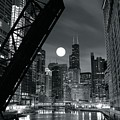 Chicago Black And White Nights by Frozen in Time Fine Art Photography