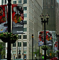 Chicago Blackhawk Flags by Ely Arsha