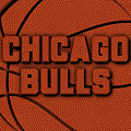 Chicago Bulls Leather Art by Joe Hamilton
