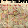 Chicago, Burlington Route System Map, 1892. by Celestial Images