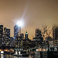 Chicago City At Night by Art Spectrum
