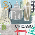 Chicago Cityscape- Art By Linda Woods by Linda Woods