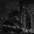 Chicago Cloud Gate Night by Kyle Hanson