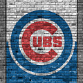 Chicago Cubs Brick Wall by Joe Hamilton