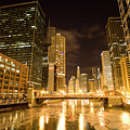 Chicago Downtown City  Night Photography by Mark Duffy