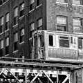 Chicago El And Warehouse Black And White by Christopher Arndt