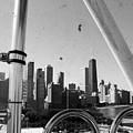 Chicago Ferris Wheel Skyline by Kyle Hanson