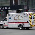 Chicago Fire Department Ems Ambulance 53 by Thomas Woolworth