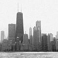 Chicago Frozen Skyline Panorama by Kyle Hanson