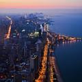 Chicago Gold Coast Night Portrait by Kyle Hanson