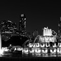 Chicago Grant Park Grayscale by Jennifer White