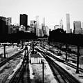 Chicago Grant Park Railroad Skyline by Kyle Hanson