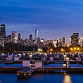 Chicago Harbor View At Night by Jasmin Omerovic
