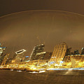Chicago In A Bubble Flattened by Michael Bessler