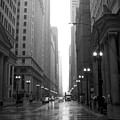 Chicago In The Rain 2 B-w by Anita Burgermeister