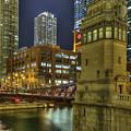 Chicago La Salle Street Bridge by Barry Benton