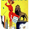 Chicago, Lion, Shopping Woman by Long Shot
