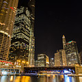 Chicago - Looking East From Dearborn Street by Greg Thiemeyer