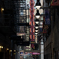 Chicago Loop, Goodman Theater Marguee by Russell Ingram