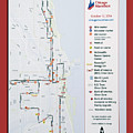 Chicago Marathon Race Day Route Map 2014 by Thomas Woolworth