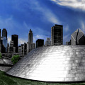 Chicago Millennium Park Bp Bridge Pa 01 by Thomas Woolworth