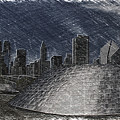 Chicago Millennium Park Bp Bridge Pa 02 by Thomas Woolworth