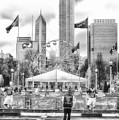 Chicago Nfl Draft Town 2016 Bw by Thomas Woolworth