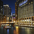 Chicago Night Lights by M Bernardo