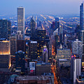 Chicago Night Skyline by Kyle Hanson