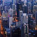 Chicago Night Skyline Portrait by Kyle Hanson