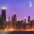 Chicago Oak Street Beach by Donald Schwartz