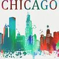 Chicago Paint Splatter by Dan Sproul